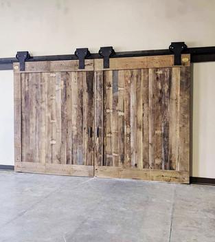 Oak Barnwood Massive Double Barn Doors