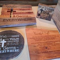 Custom Engraved Wood Pieces