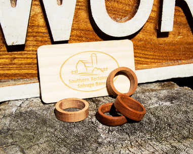 Turned Wood Rings