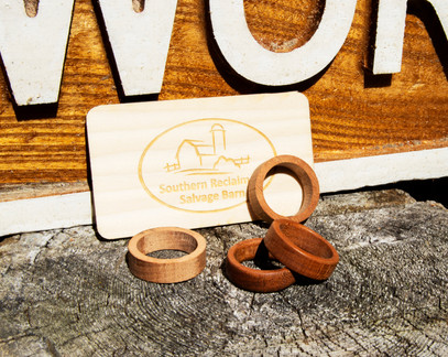 Turned Wood Rings