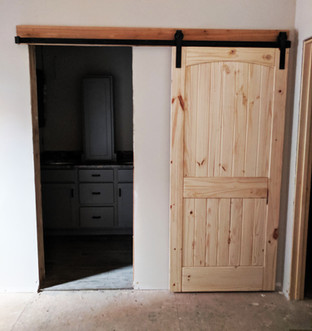 Natural Wood Sliding Barn Door