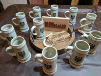 Engraved Ceramic Beer Steins
