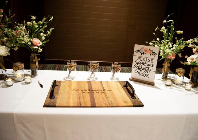 Custom Engraved Wedding Signature Tray 2