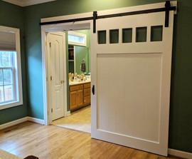 Large 5-Pane White Sliding Barn Door