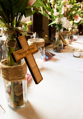 Custom Engraved Table Centerpiece Candle