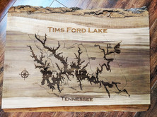 Engraved Wood Map