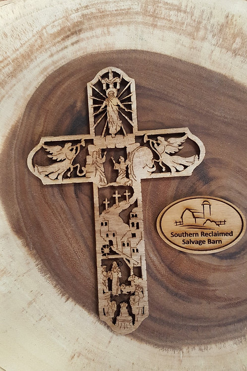 Story of Christ Cut-Out Wooden Crosses