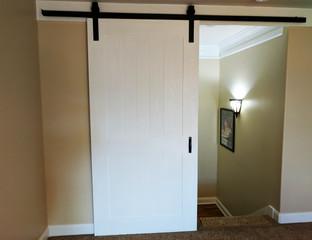 Standard White Painted Sliding Barn Door