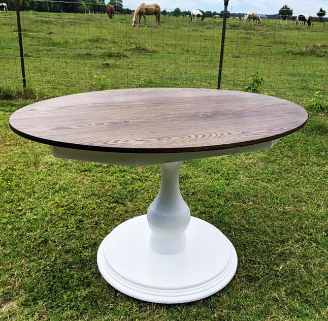 Espresso Stained Sassafras Kitchen Table