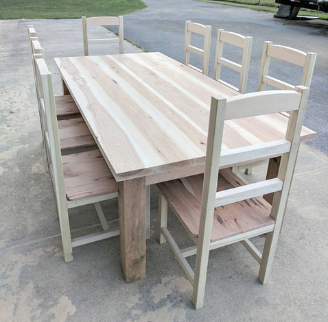 Oak and Hickory Kitchen Table