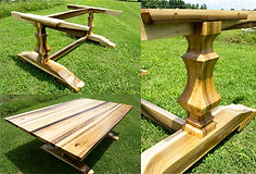 Custom Tulip Poplar Farm Table & Base.jp
