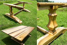 Custom Tulip Poplar Farm Table & Base