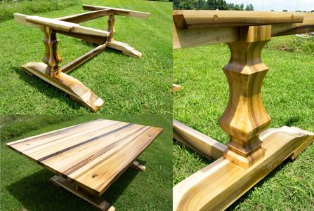Custom Tulip Poplar Farm Table & Base