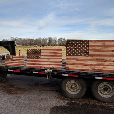 Custom Wood Flags