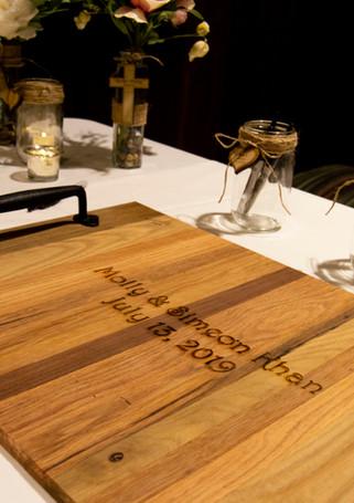 Custom Engraved Wedding Signature Tray.j