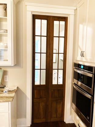 Seeded Glass Pantry Doors