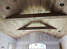 Sassafras Ceiling with Wrapped Beams.jpg