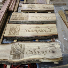 Engraved Family Porch Signs