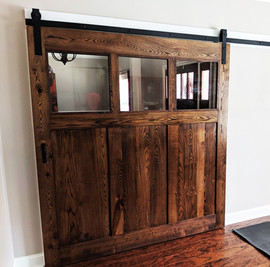 Large 3-Pane Glass Barn Door