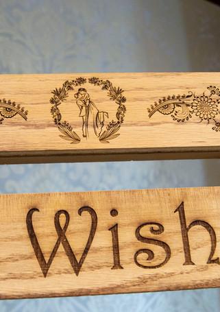 Custom Engraved and Built Wedding Easel