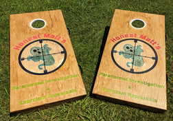 Resin Poured Custom Cornhole Set