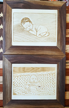 Custom Engraved Baby Photos