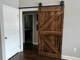 Double Z Frame Rustic Sliding Barn Door