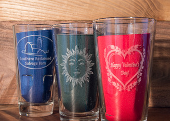 Engraved Pint Glasses
