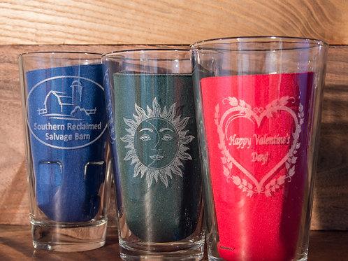 Set of Four Engraved Glasses