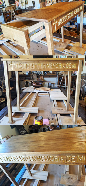 CNC Engraved Memory Table