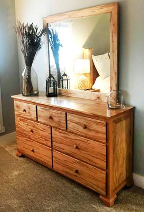 Custom Dresser with Mirror