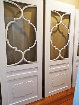 Custom Barn Doors with CNC carved Moldin