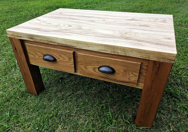 Spaulted Hackberry Red Oak and Sassafras Coffee Table
