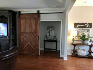 X Panel Rustic Sliding Barn Door