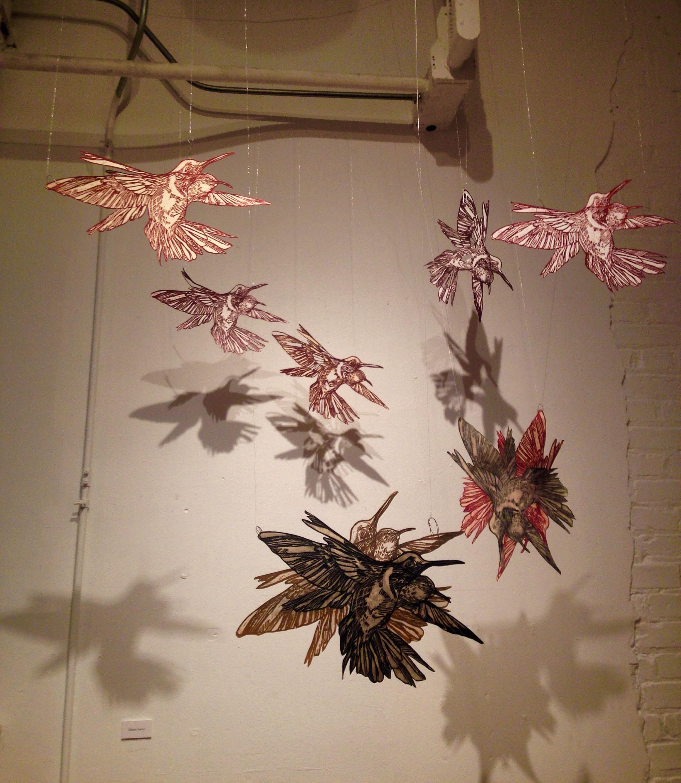 Hummingbird installation 1