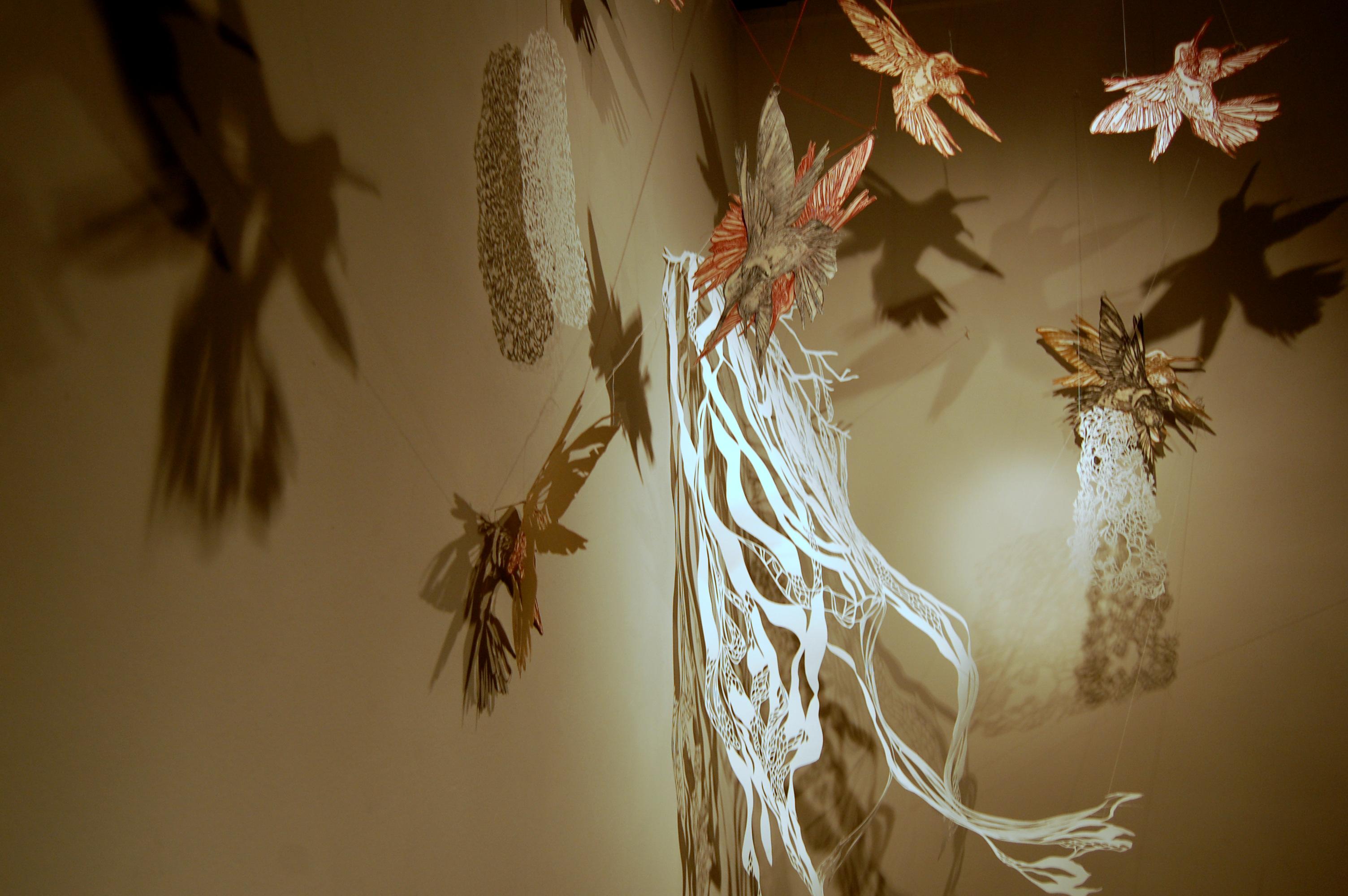 Hummingbird and Lichen (detail 2)