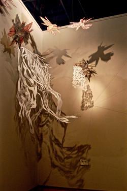 Hummingbird and Lichen Detail
