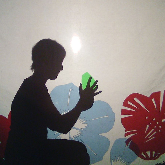 Granny Li with silver scissors