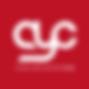 AYC white logo on red background