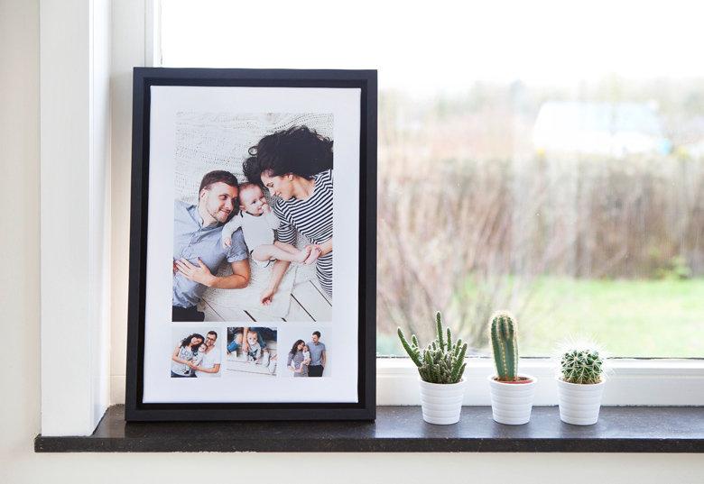 Foto canvas in kader 45x30cm