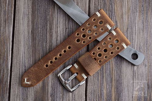 Rally watch strap brown leather ManCaveLeather