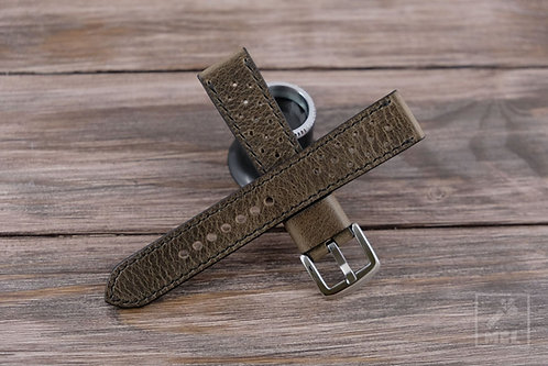 Man cave leather racing watch strap