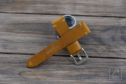 Mustard leather watch strap man cave leather