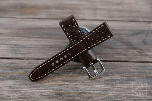 Mancaveleather racing watch strap