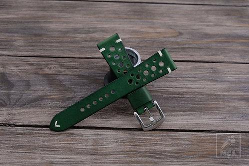 Green rally watch strap