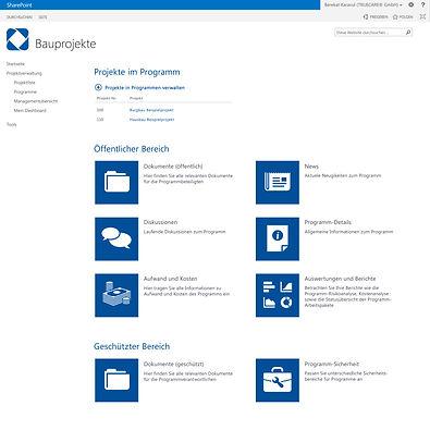 Über das Programm-Management können zusammengehörende Projekte in einem Programm zusammengefasst werden.