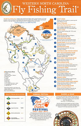 Fly Fishing Trail Map River And Stream Access Points