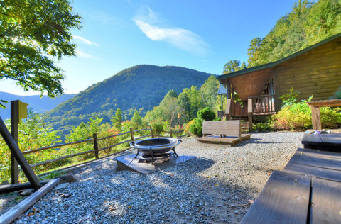 Firepit with Smoky Mountain View