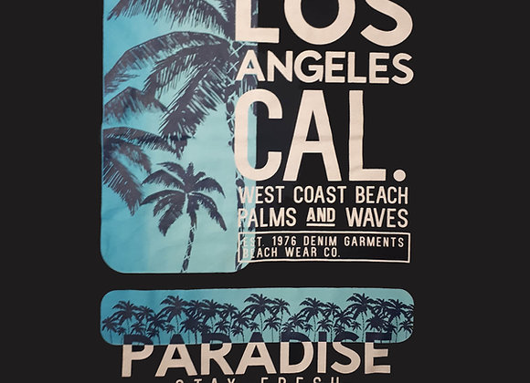 Paradise Tee in Black by Espionage