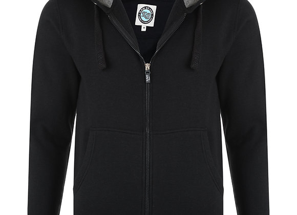 Zip up Hoodie in Black by Kam